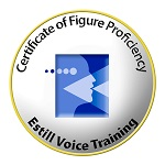Patricia is gediplomeerd Figure Proficiency (voiceprint examen)  en staat geregistreerd op de Estill website