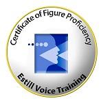Patricia is gediplomeerd Figure Proficiency (voiceprint examen)  en staat geregistreerd op de Estill website