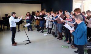 Repertoiredag voor vrouwenkoor georganiseerd door Koor&Stem Belgie op 3 maart 2018